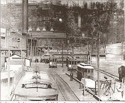 Bergen County Traction Company trolley at Palisades Park