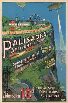 An old advertising postcard for Palisades Amusement Park in New Jersey.