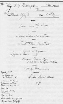 Billings Horseback Dinner menu