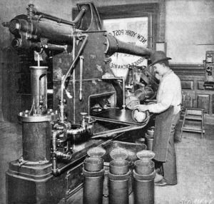 Pneumatic tubes, Produce Exchange, New York Post Office