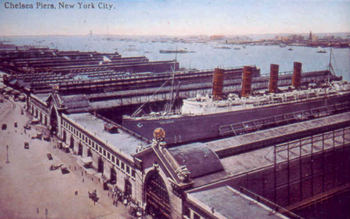 RMS Lusitania at Chelsea Piers