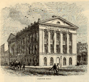 Henry Bergh pleaded on behalf of the animals during a meeting at Clinton Hall in New York