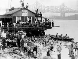 East River bath house 19th century
