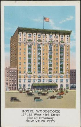 Hotel Woodstock at 127 West 43rd Street.