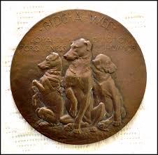 Laura Gardin Fraser's Bide-A-Wee dog medal