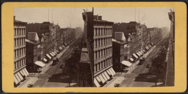 Broadway south of Houston 1860