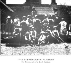 "The ""Suffragette farmers"" at Hammerstein's Dutch farm"