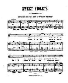 Sweet Violets, J.K. Emmet
