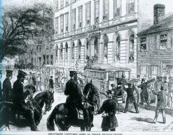 Mulberry Street police headquarters, Orange Riots