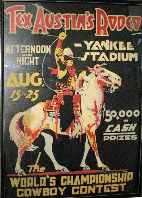 Tex Austin Rodeo Yankee Stadium