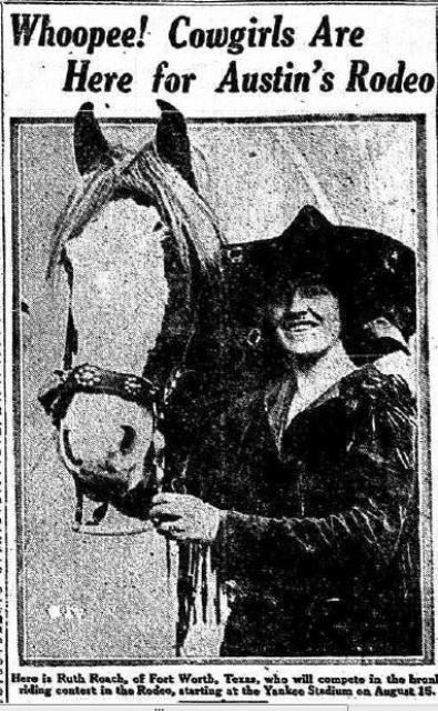 Ruth Roach cowgirl Yankee Stadium