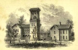Green-Wood Cemetery bell tower. Brooklyn