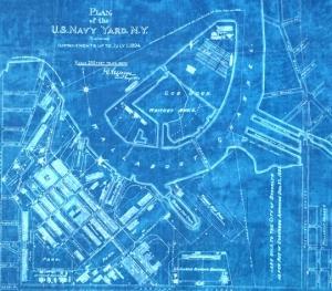 1894 plan of Brooklyn Navy Yard