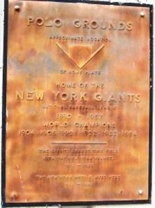 Polo Grounds plaque