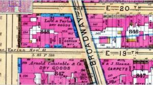 1891 New York Map Goelet residence