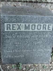 Rex Moore, Hartsdale Pet Cemetery