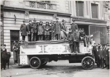 High-Pressure Hose Wagon, FDNY, 1910