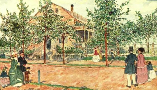 Spingler Farmhouse, 14th Street west of Fifth Avenue