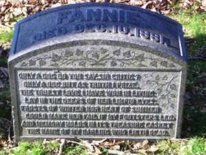 Fannie Howe Green-Wood Cemetery