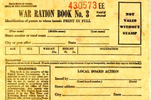 War Ration Book WWII