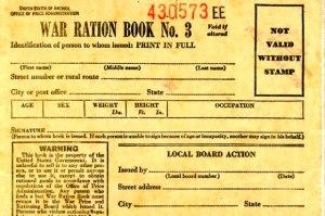 War Ration Book WWII