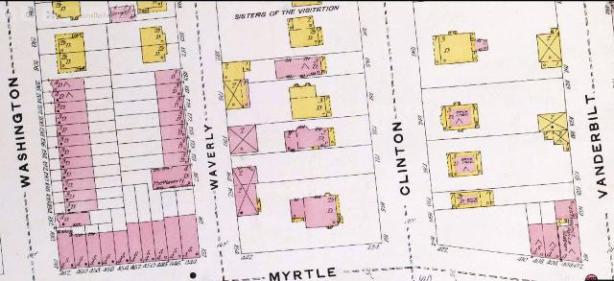 1884 Map Clinton Avenue Brooklyn
