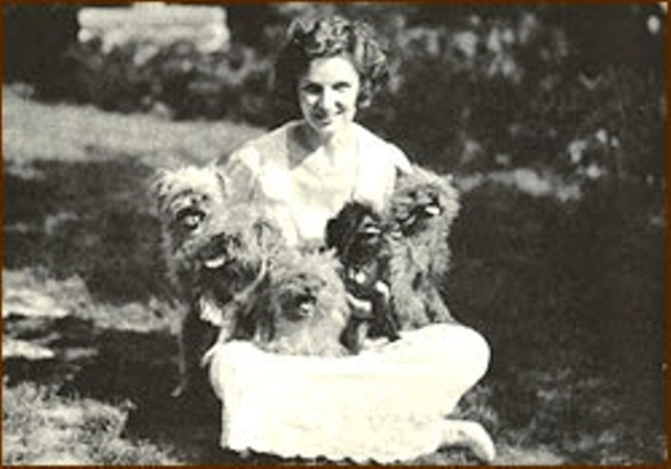 Irene Caslte and dogs