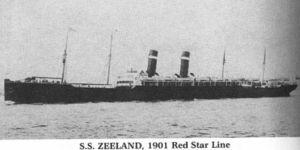 Red Star Line SS Zeeland
