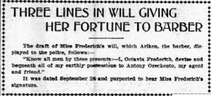 Octavia Friedrich's will